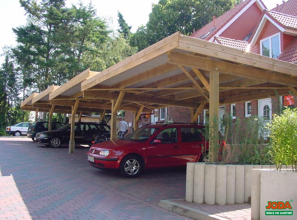 Carports garagen htk holz technik gmbh - Gartenhaus24 de ...